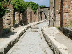 Pompeii, Italy - ancient chariot road