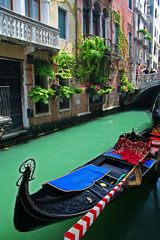 gondola and canal in Venice, Italy